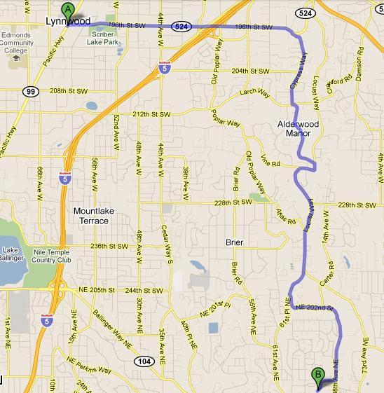 Lynnwood CPA Map