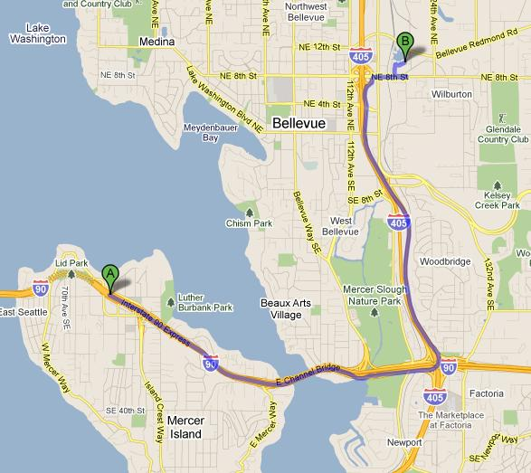 Mercer Island CPA Map