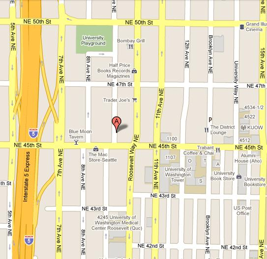 Map of University District Meeting Location